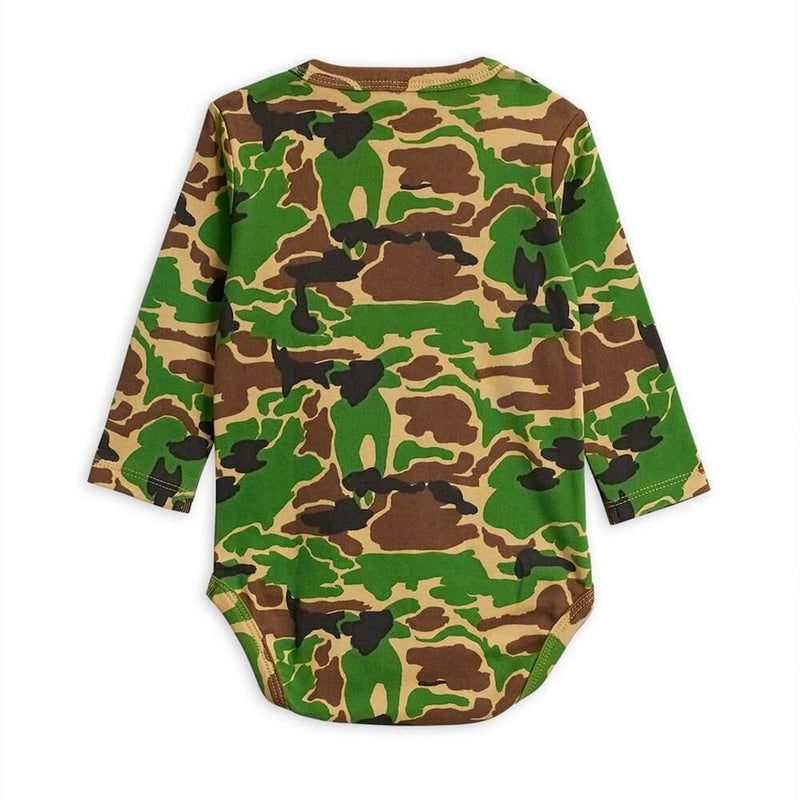 Mini Rodini Camo LS Bodysuit | Tiny People