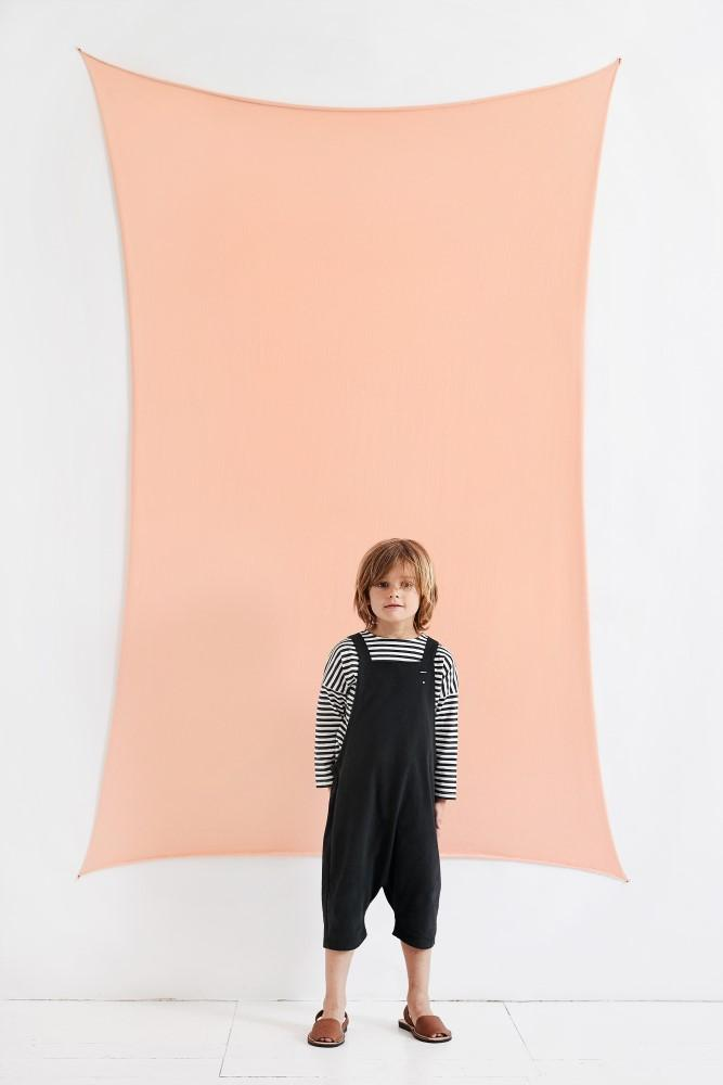 Gray Label Long Sleeve Dropped Shoulder Tee Nearly Black and Cream Stripe Tops & Tees - Tiny People Cool Kids Clothes