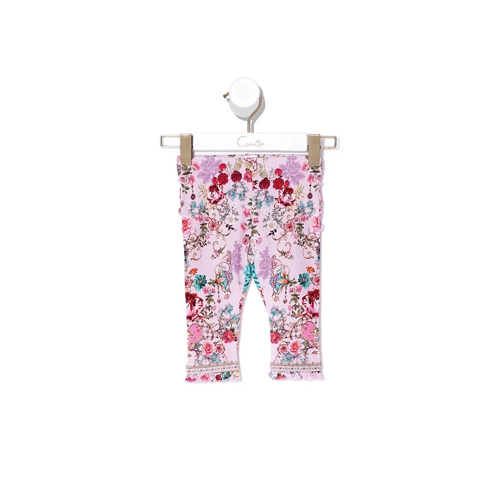 Believe in Love Baby Leggings with Frills