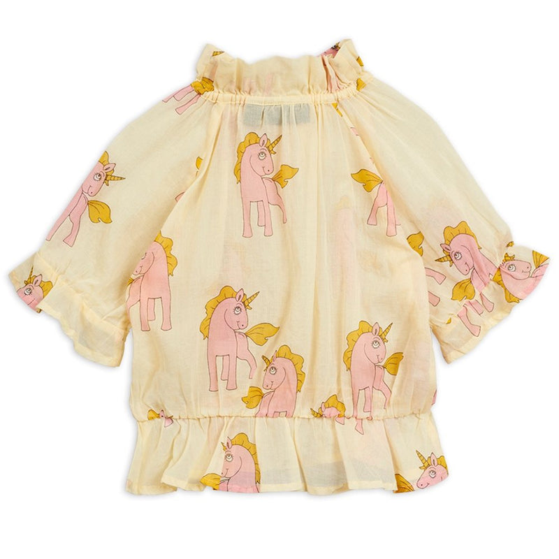 Mini Rodini Unicorn Woven Bow Blouse | Tiny People