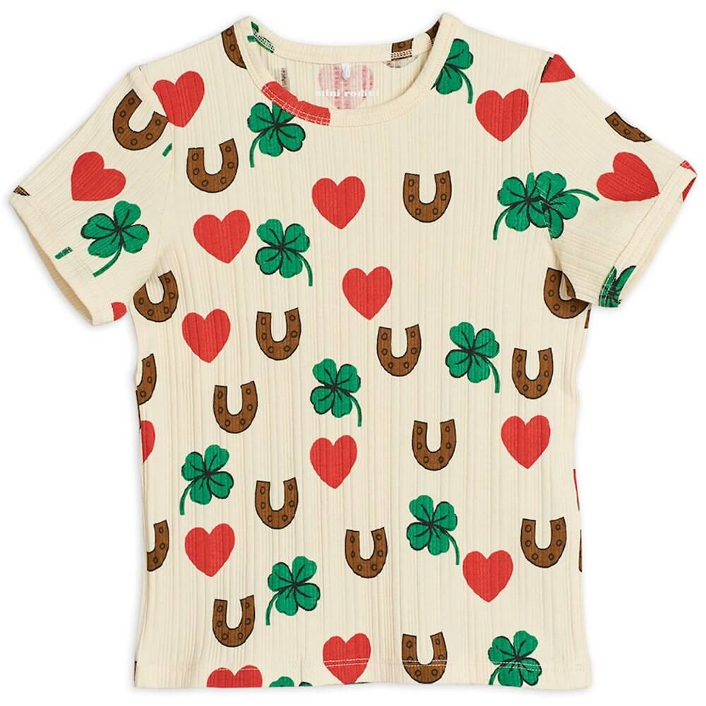 Mini Rodini Clover SS Tee | Tiny People
