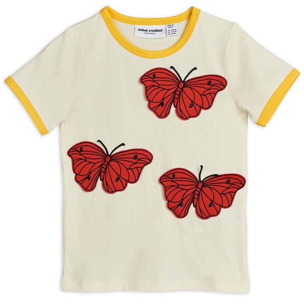 Mini Rodini Butterflies SS Tee | Tiny People