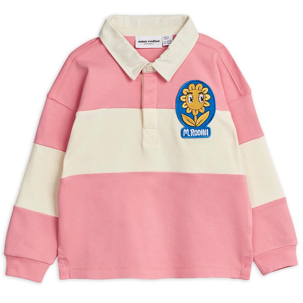 Mini Rodini Rugby Shirt (Pink) | Tiny People