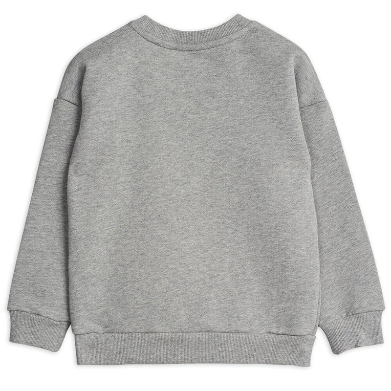 Mini Rodini Badge Sweatshirt (Grey Melange) | Tiny People