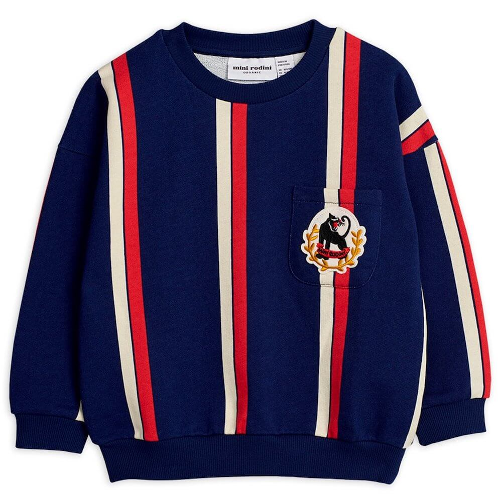 Mini Rodini Stripe Sweatshirt (Blue) | Tiny People