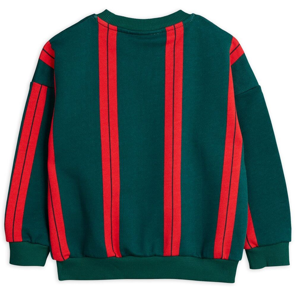 Mini Rodini Stripe Sweatshirt (Green) | Tiny People