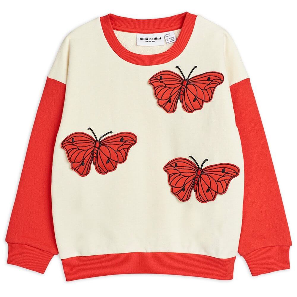 Mini Rodini Butterflies Sweatshirt | Tiny People