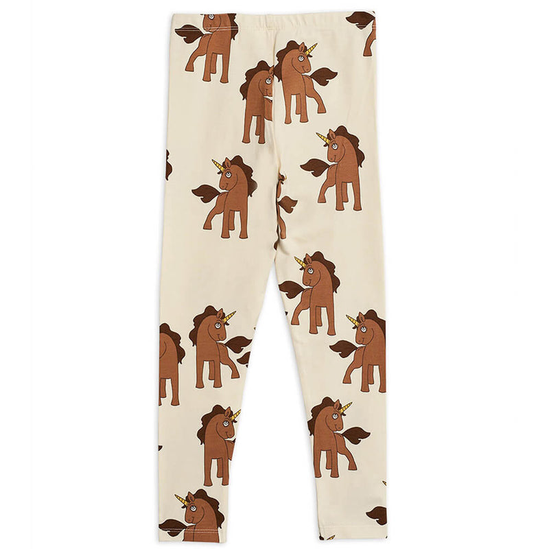 Mini Rodini Unicorn Leggings (Off-White) | Tiny People