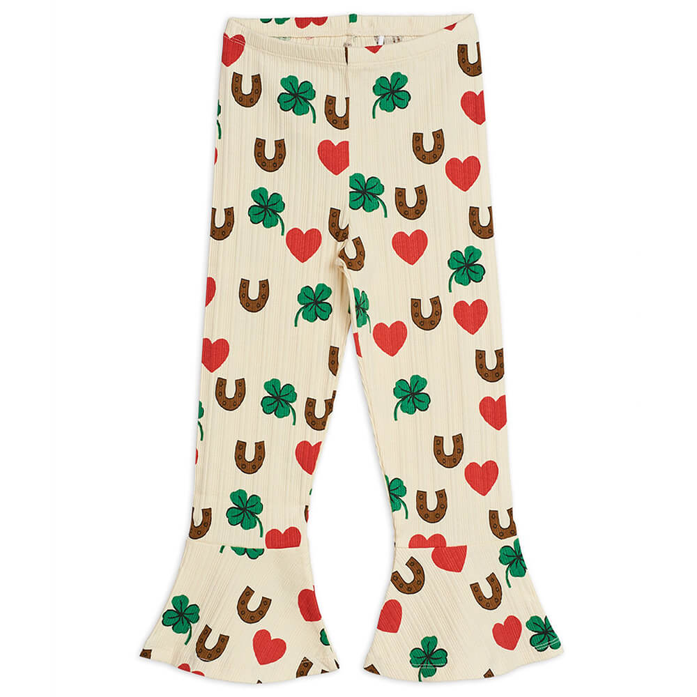 Mini Rodini Clover Flared Pants | Tiny People