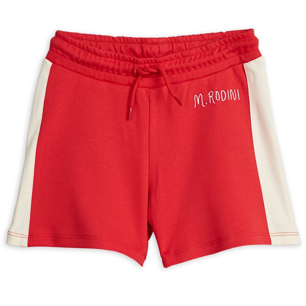 Mini Rodini Rugby Shorts (Red) | Tiny People