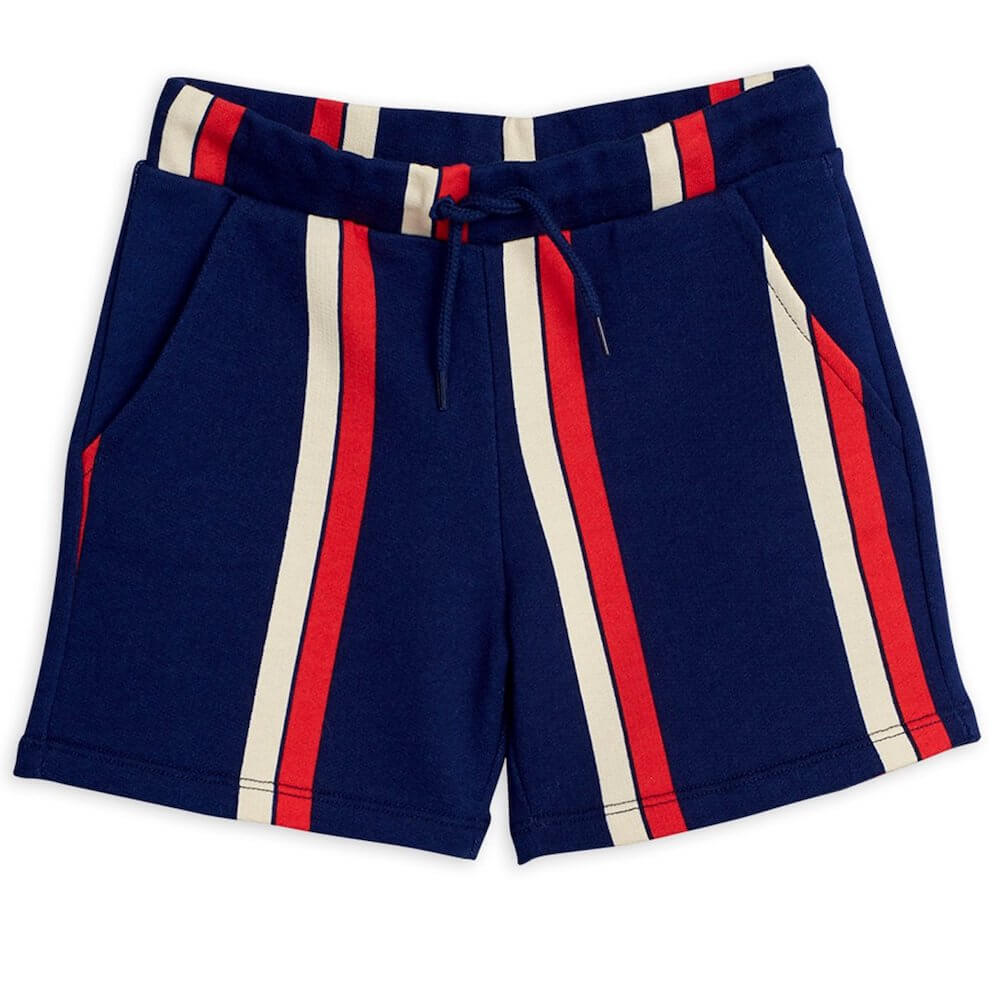Mini Rodini Stripe Sweatshorts (Blue) | Tiny People