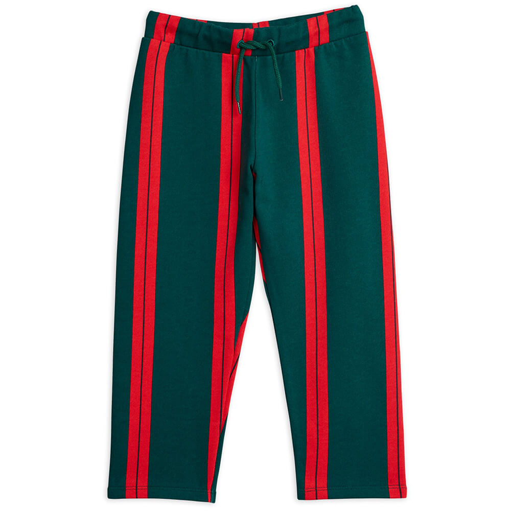 Mini Rodini Stripe Sweatpants (Green) | Tiny People