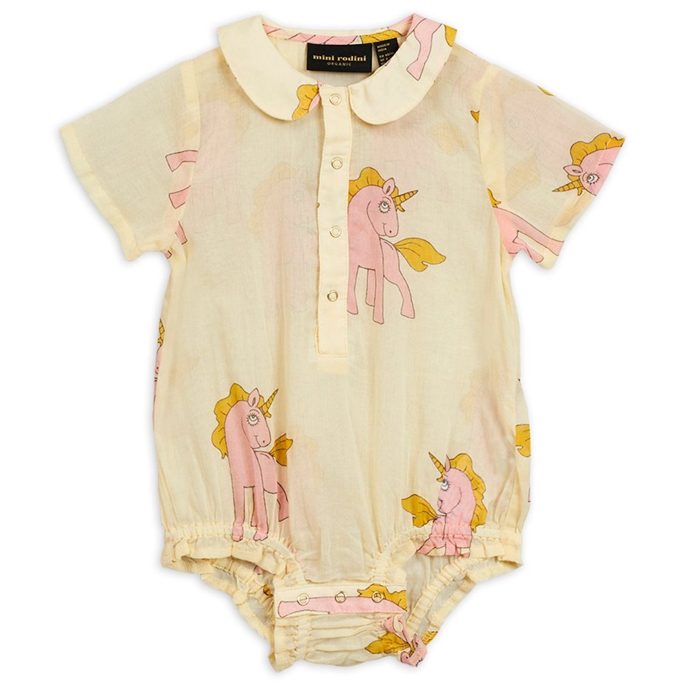 Mini Rodini Unicorn Woven Bodysuit | Tiny People