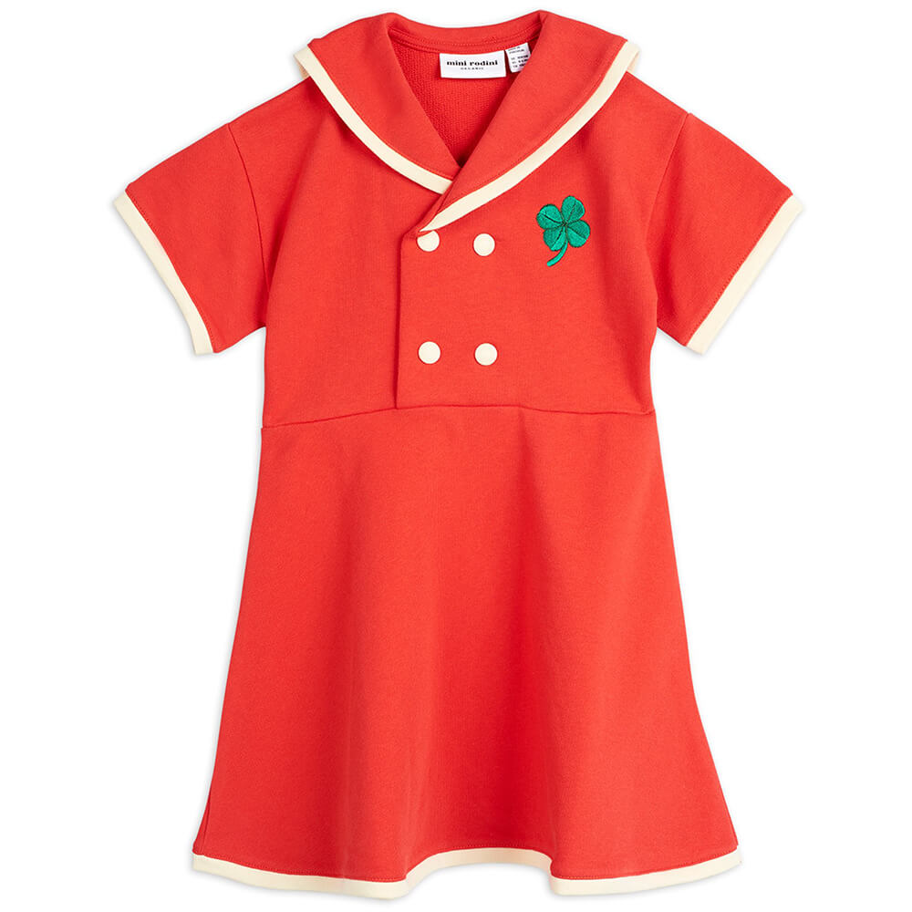 Mini Rodini Sailor Sweatdress (Red) | Tiny People