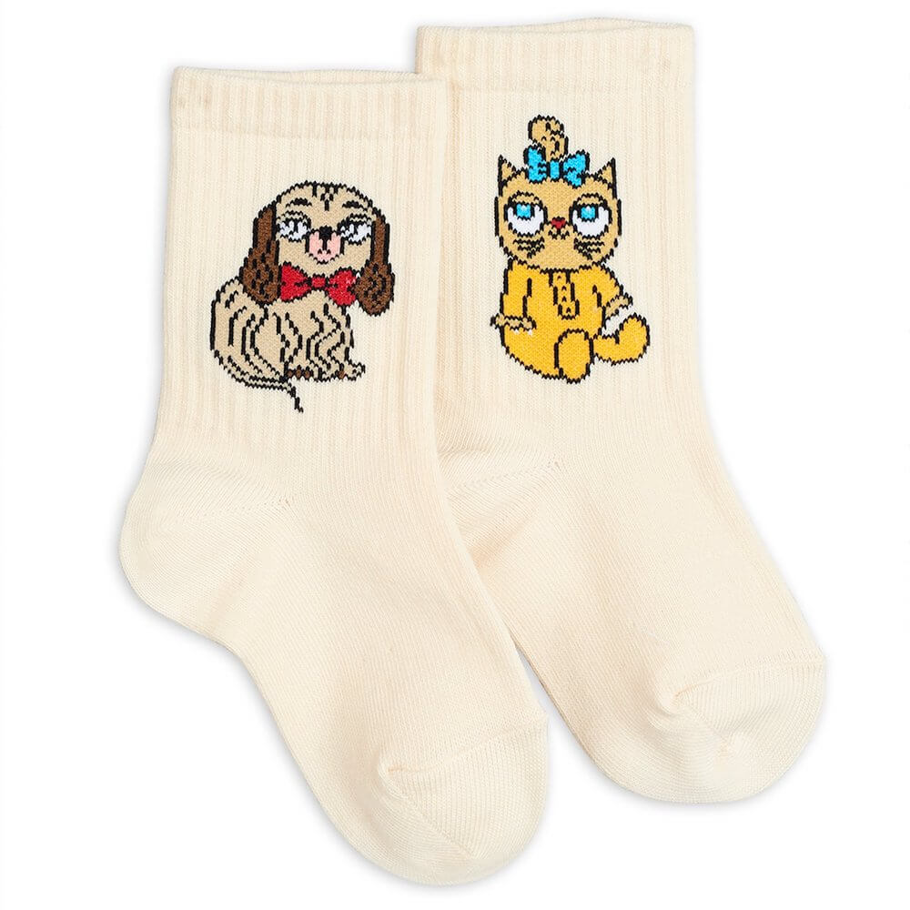 Mini Rodini Minibaby White Socks | Tiny People