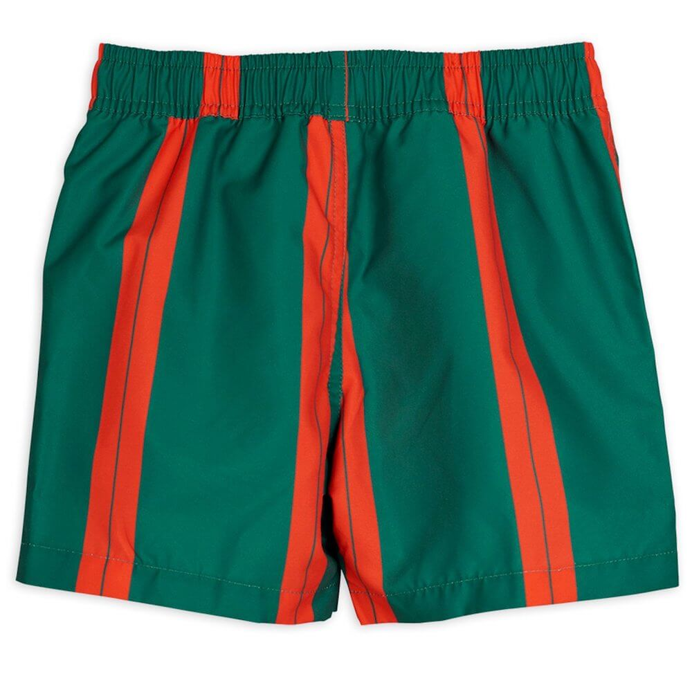 Mini Rodini Stripe Swimshorts (Green) | Tiny People