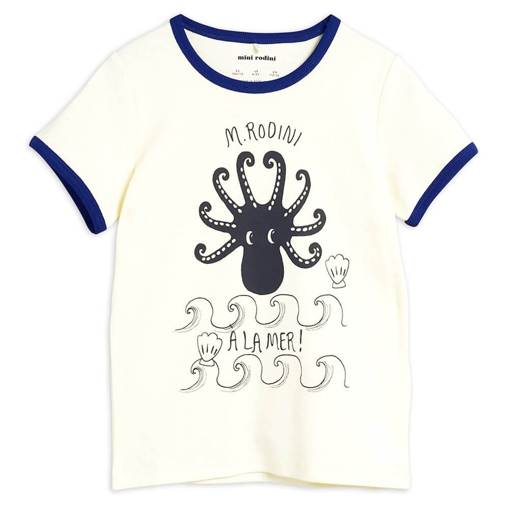 Mini Rodini Octopus SS Tee | Tiny People