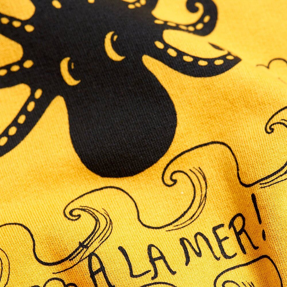 Mini Rodini Octopus Sweatshirt (Yellow) | Tiny People