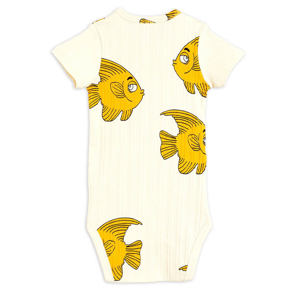 Mini Rodini Fish SS Bodysuit | Tiny People