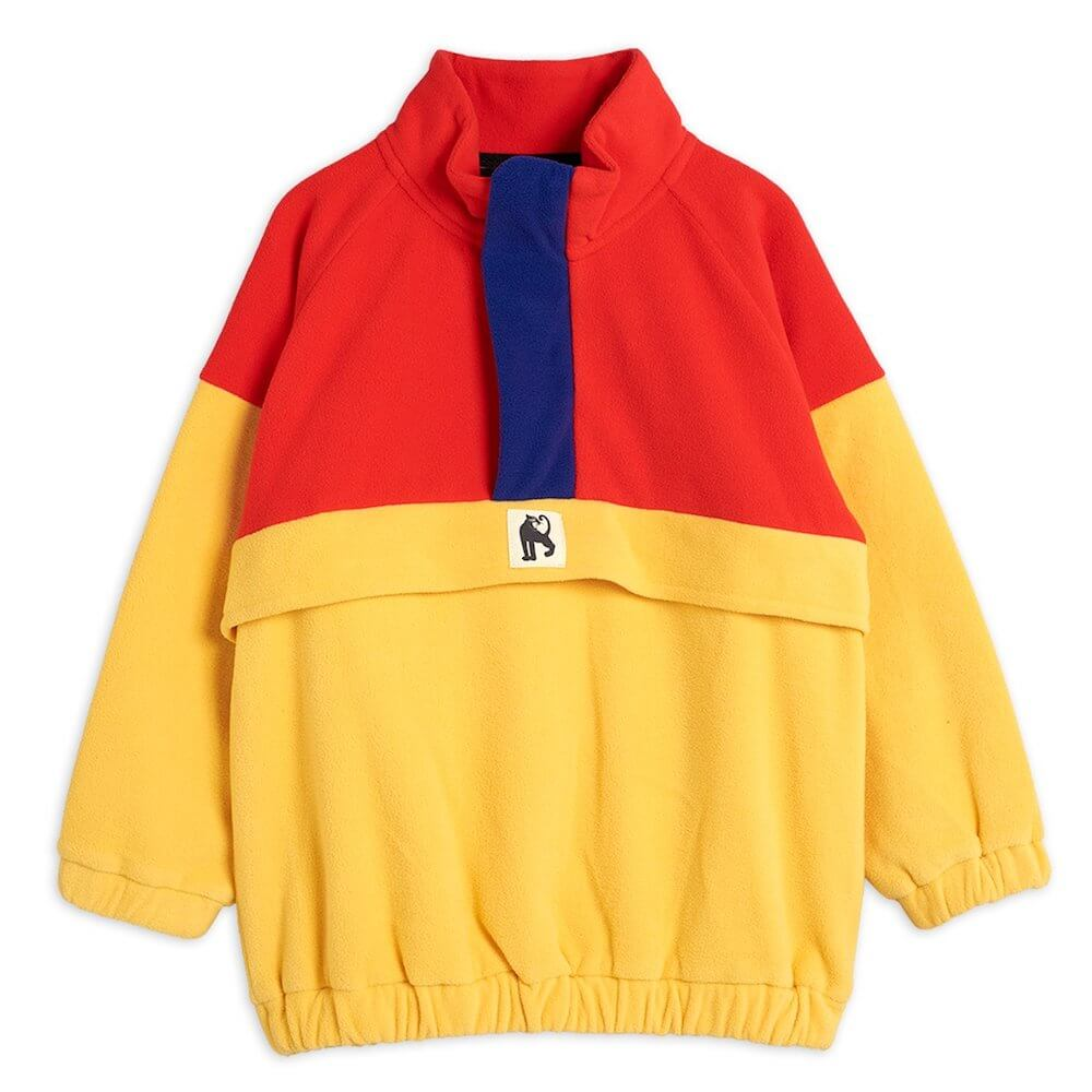 Mini Rodini Fleece Zip Pullover (Red) | Tiny People