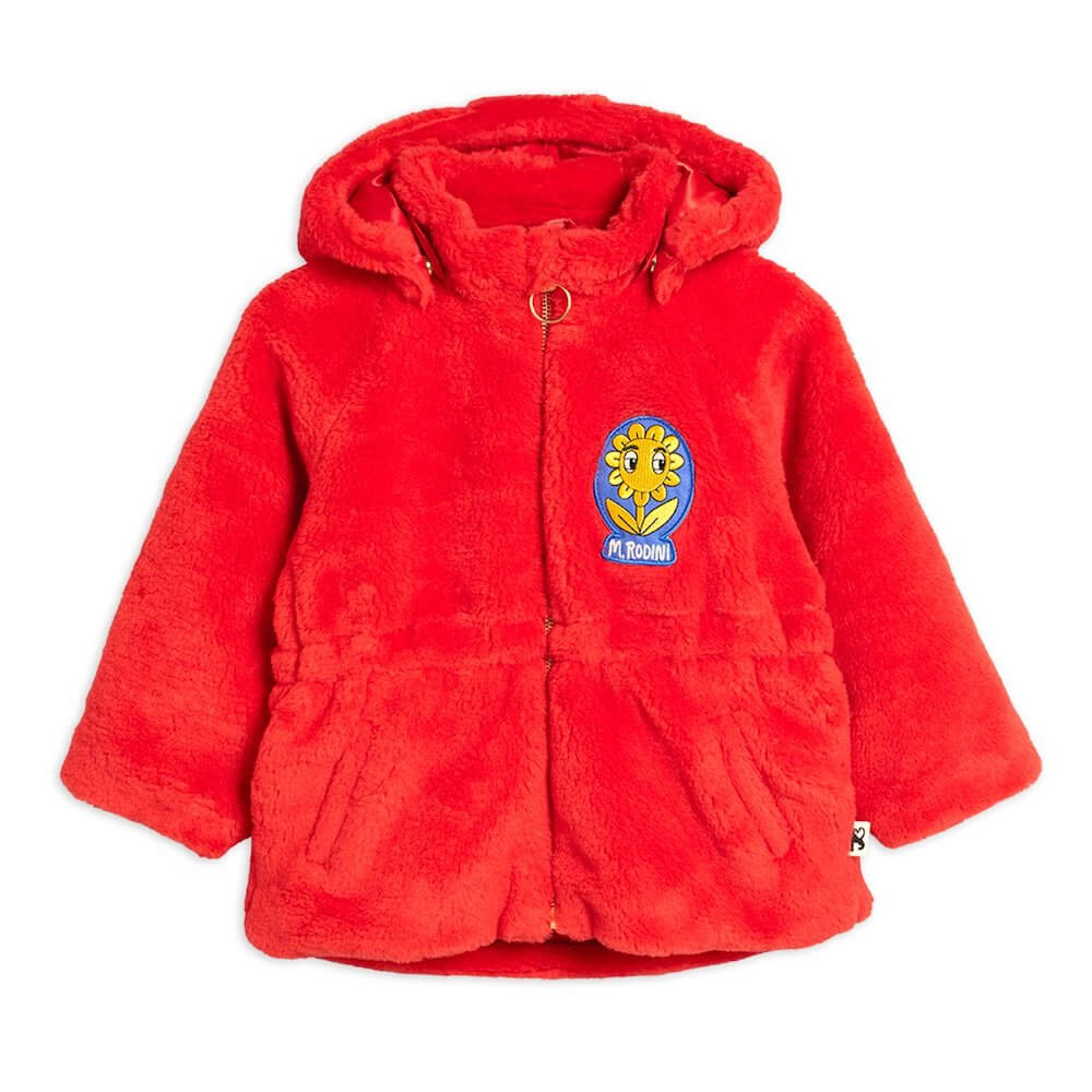 Mini Rodini Faux Fur Parka (Red) | Tiny People