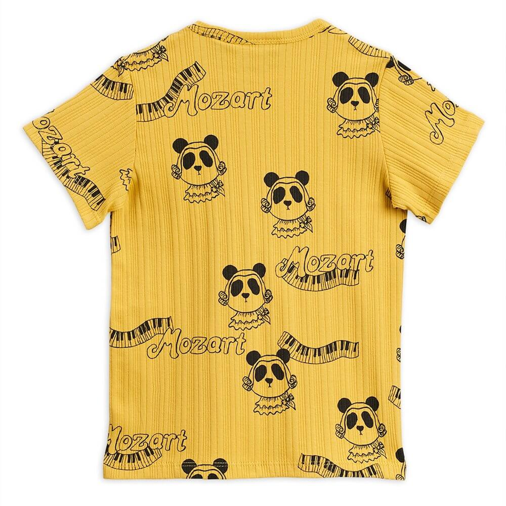 Mini Rodini Mozart SS Tee (Yellow) | Tiny People