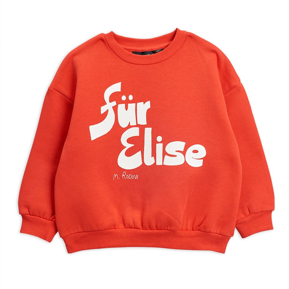 Mini Rodini Für Elise Sweatshirt (Red) | Tiny People