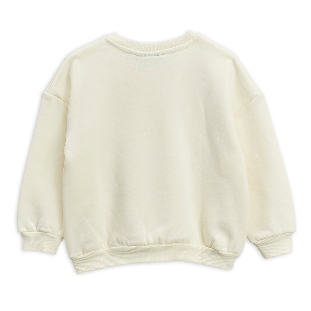 Mini Rodini Flowers Sweatshirt (OffWhite) | Tiny People