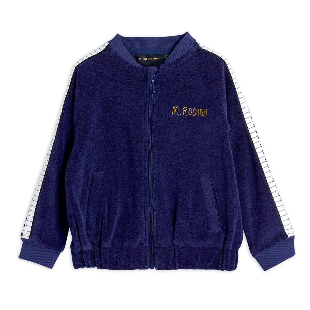Mini Rodini Piano Terry Jacket (Navy) | Tiny People