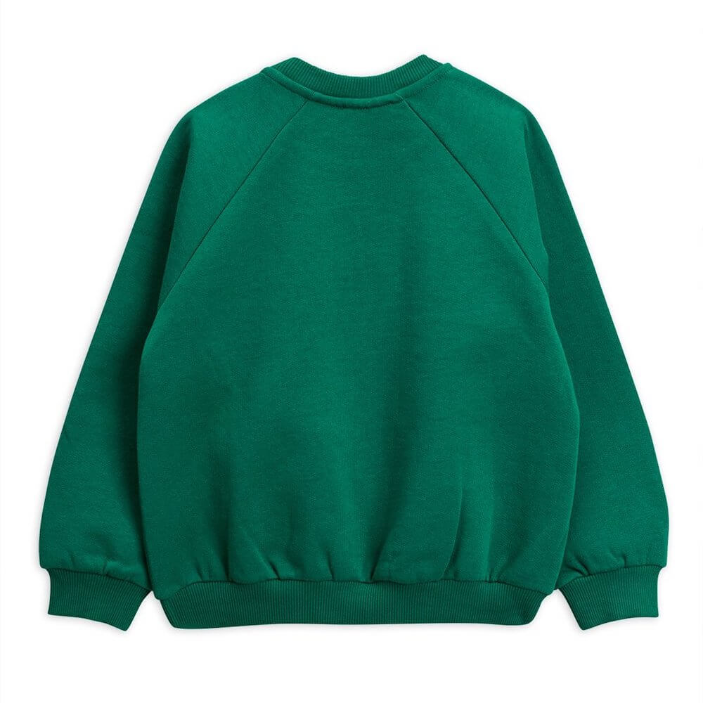 Mini Rodini Cat Choir Sweatshirt (Green) | Tiny People