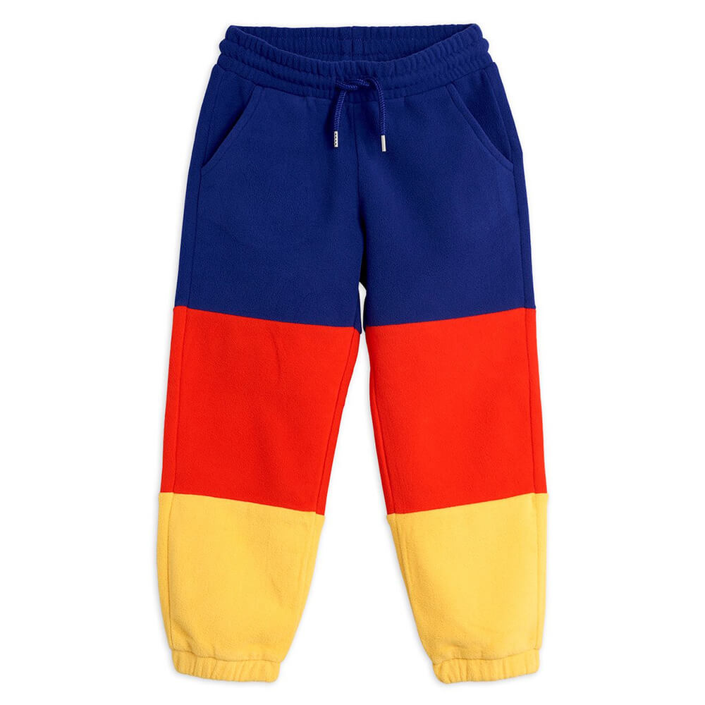 Mini Rodini Fleece Panel Trousers (Blue) | Tiny People