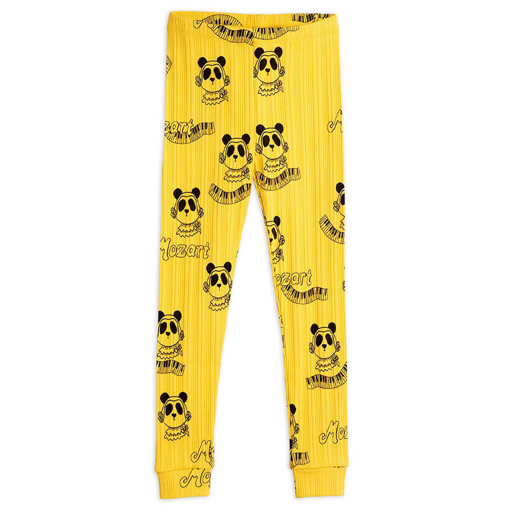 Mini Rodini Mozart Leggings (Yellow) | Tiny People