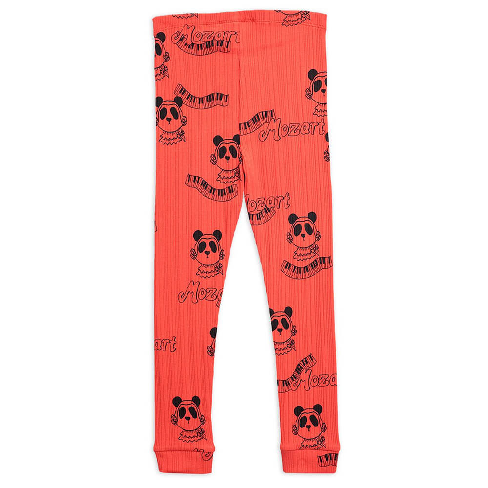Mini Rodini Mozart Leggings (Red) | Tiny People
