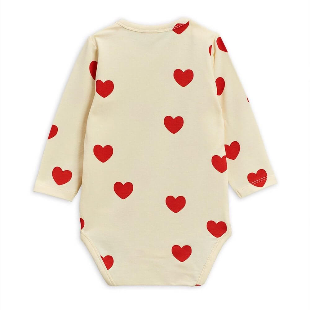 Mini Rodini Hearts LS Bodysuit | Tiny People