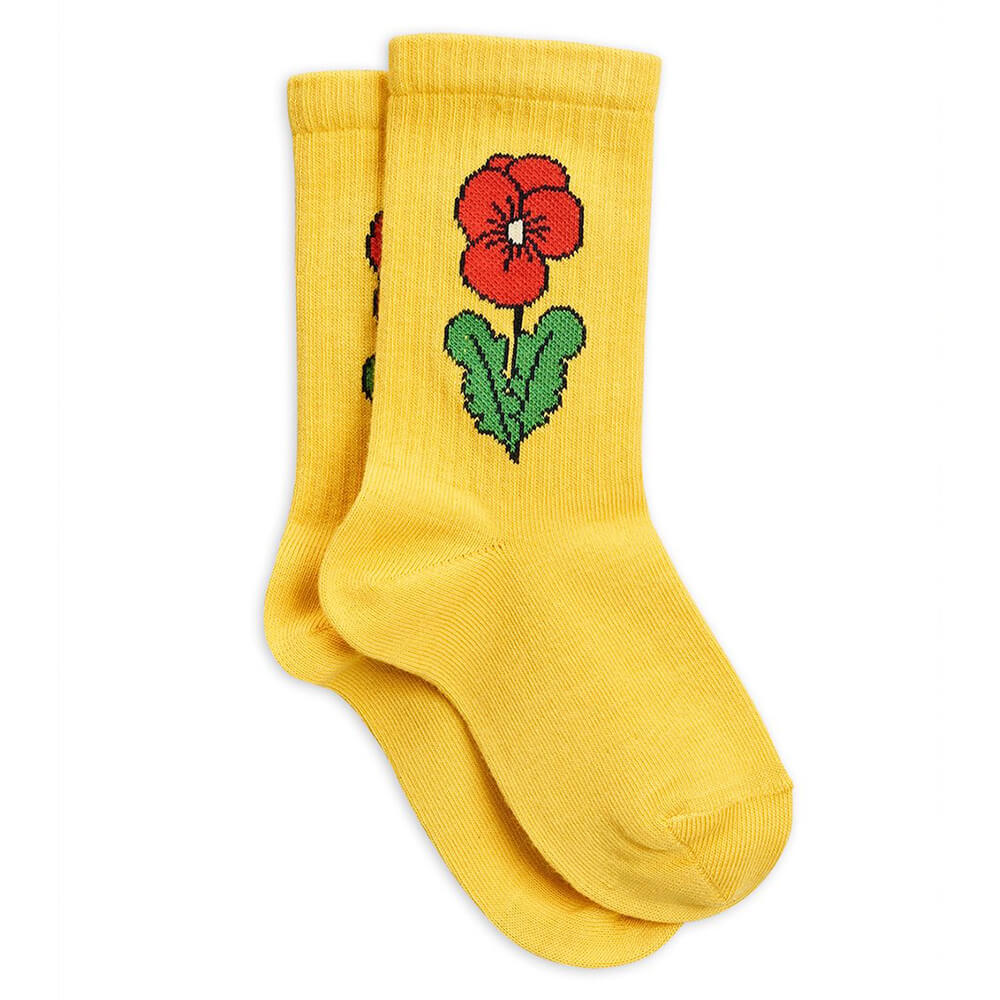 Mini Rodini Viola Socks (Yellow) | Tiny People