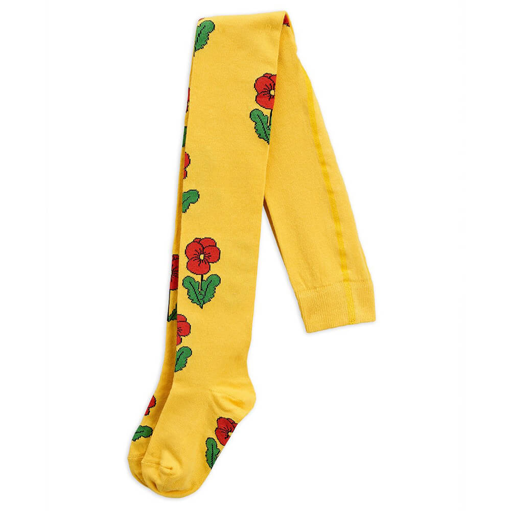 Mini Rodini Violas Tights (Yellow) | Tiny People