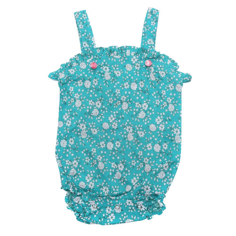 Coco & Ginger Freesia Sunsuit Bluebird Whisper | Tiny People