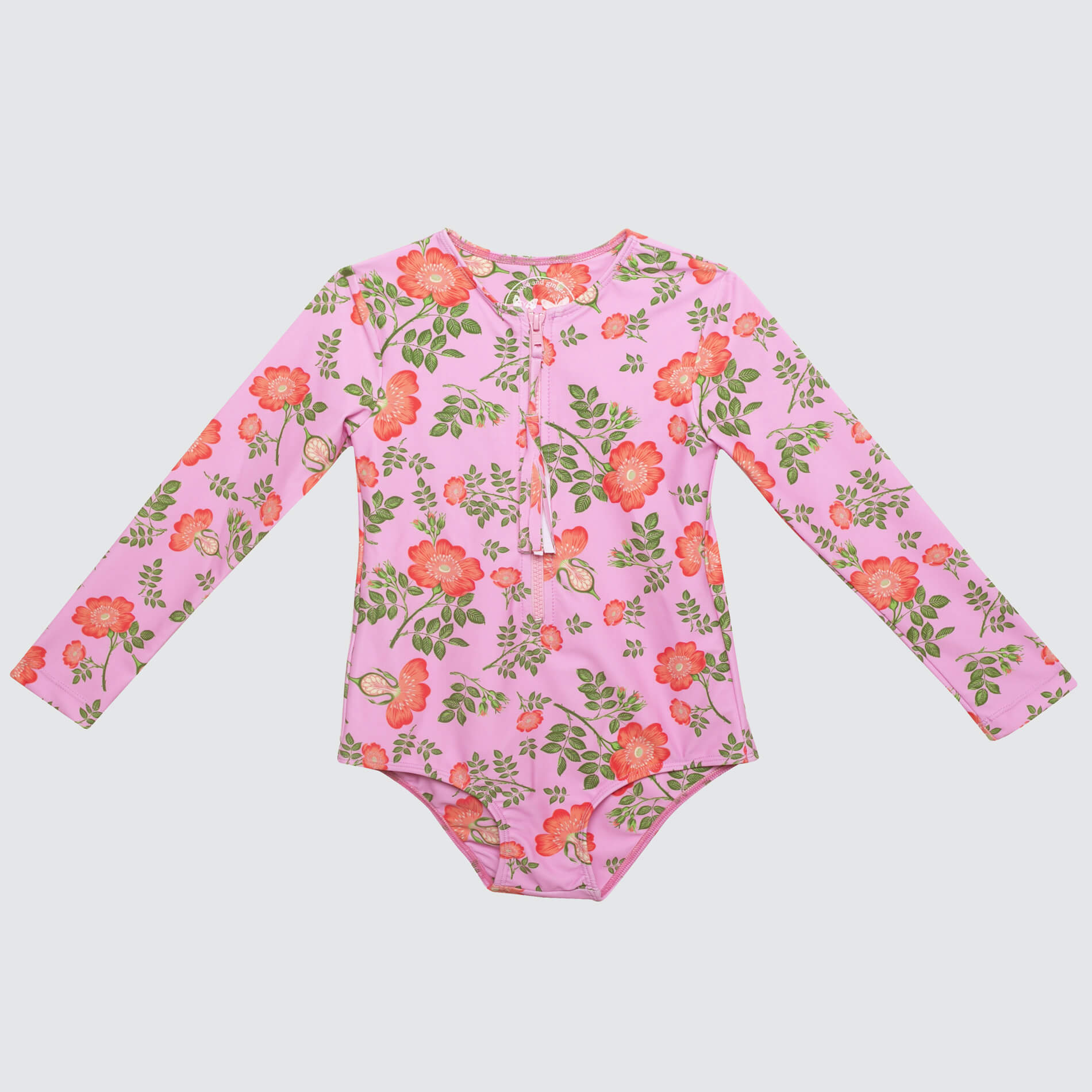 Coco & Ginger One Pc Rash Vest Sorbet Dogwood Rose | Tiny People