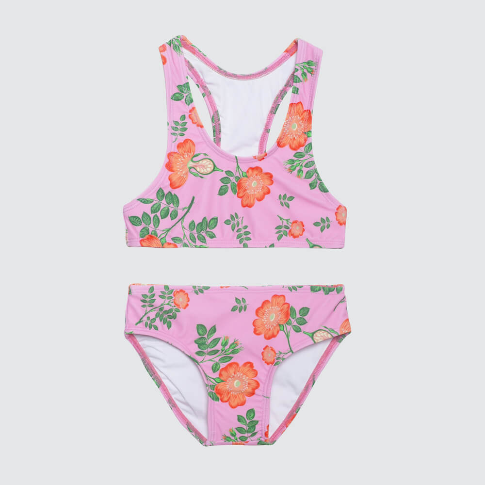 Coco & Ginger Racer Back Bikini Sorbet Dogwood Rose | Tiny People
