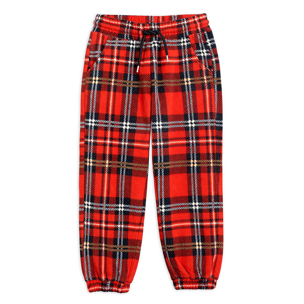 Mini Rodini Fleece Check Trousers | Tiny People
