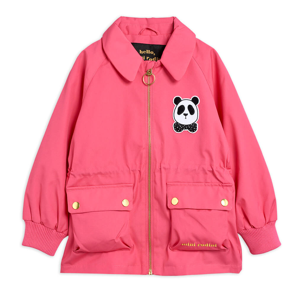 Buy Mini Rodini Australia Panda Jacket Pink | Tiny People