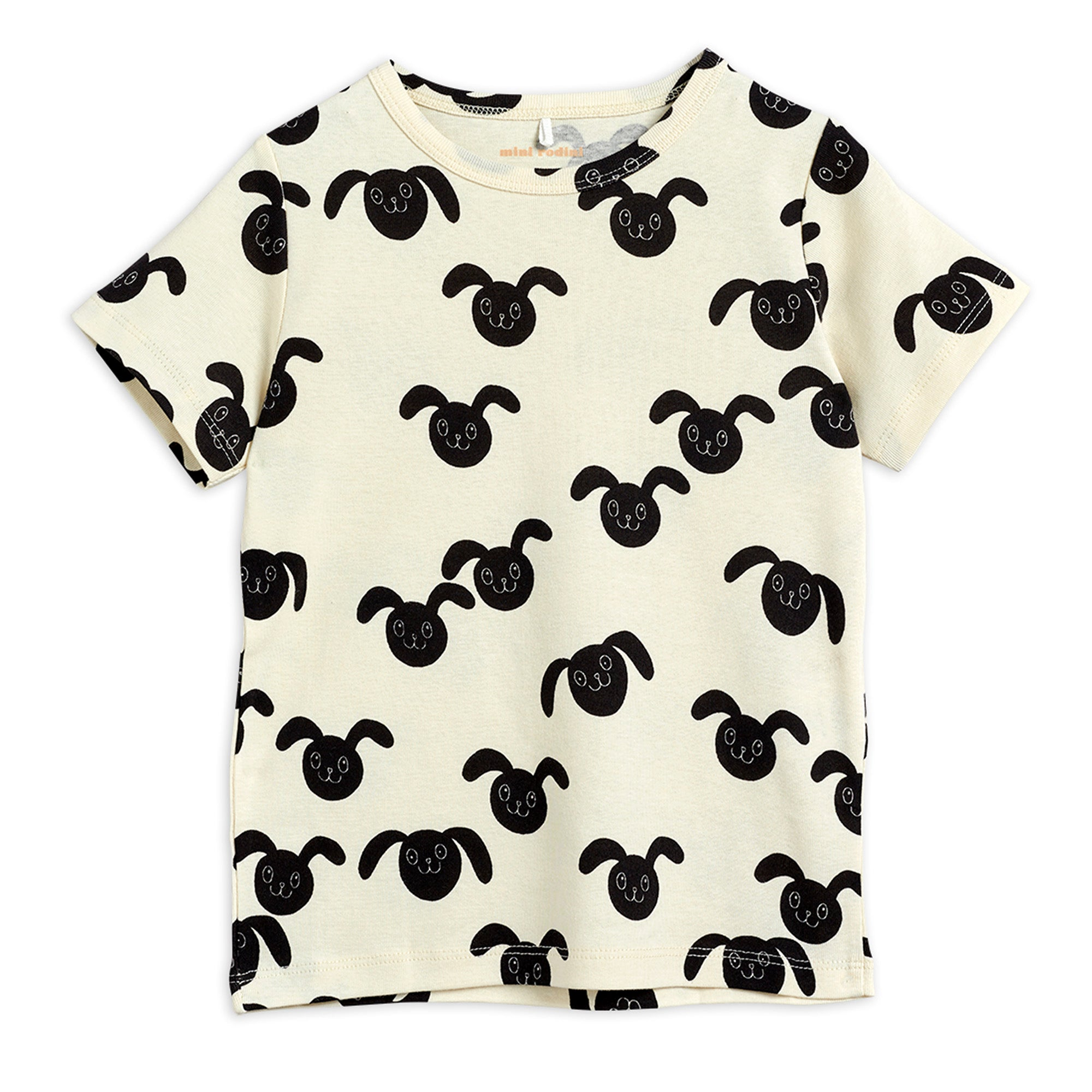 Mini Rodini Rabbits SS Tee Black | Tiny People