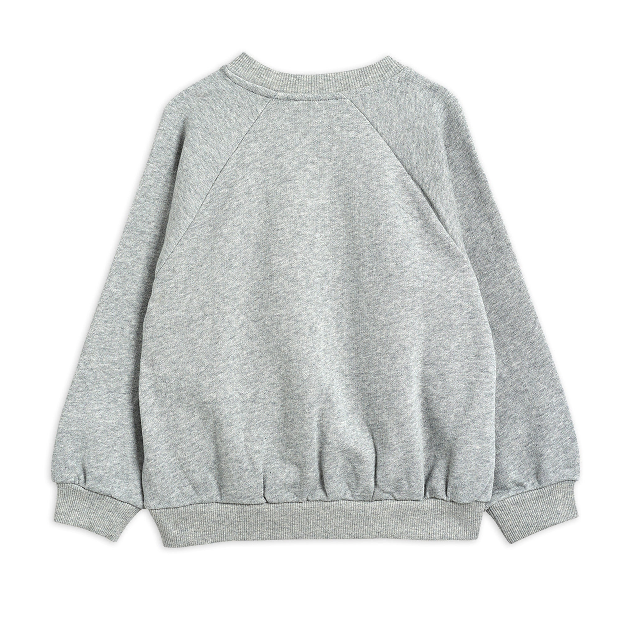 Mini Rodini Cat and Panda SP Sweatshirt Grey Melange | Tiny People