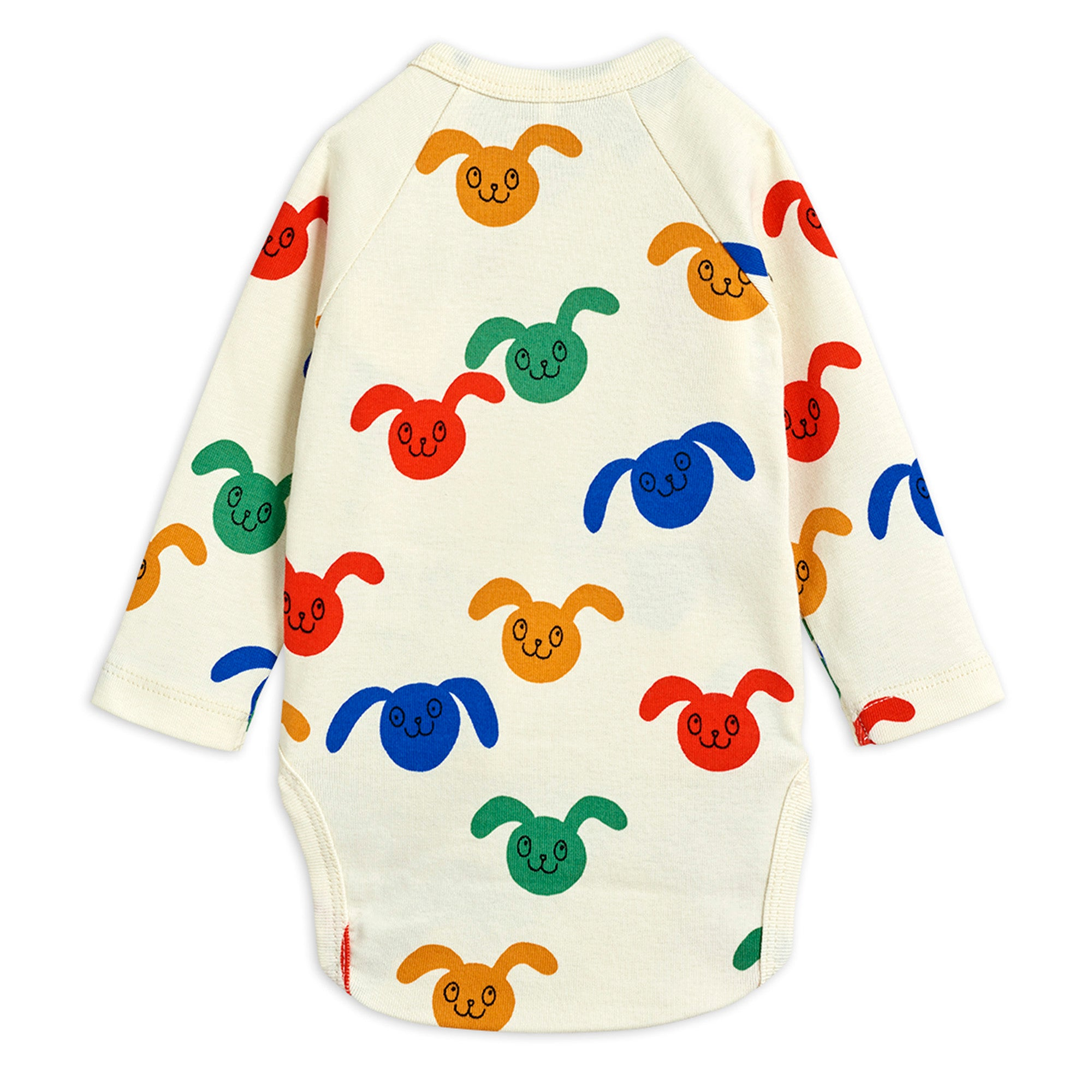 Mini Rodini Rabbits Wrap Bodysuit Multi | Tiny People