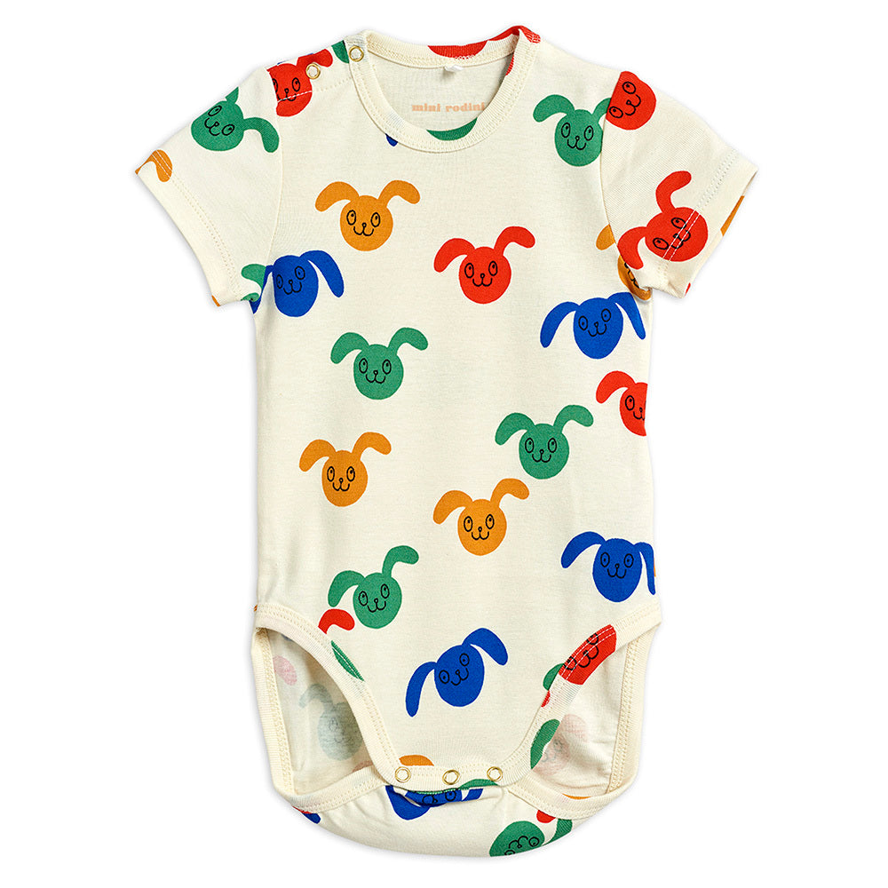 Mini Rodini Rabbits SS Bodysuit Multi | Tiny People