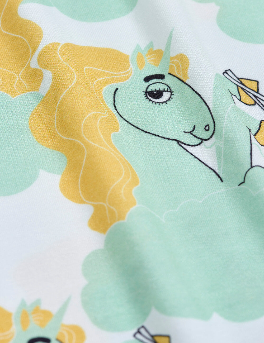 Buy Mini Rodini Australia Unicorn Noodles SS Tee Green | Tiny People