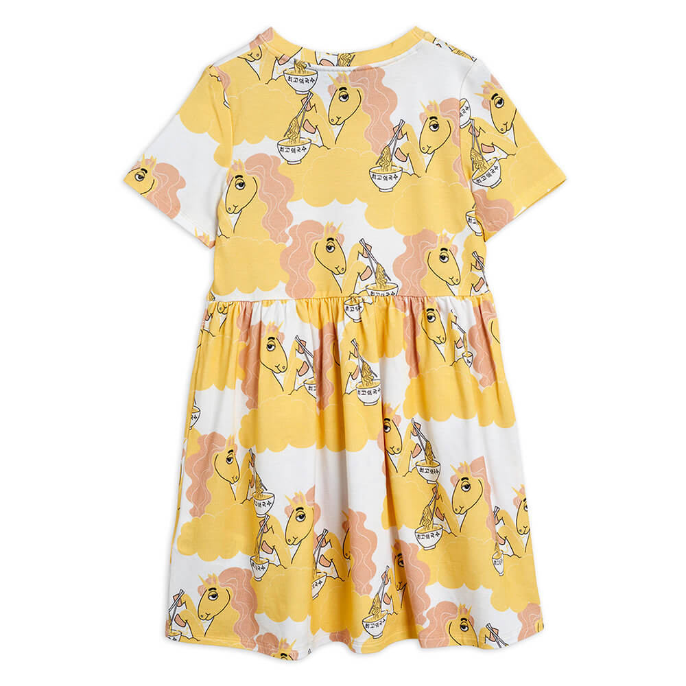 Boutique Mini Rodini Australia Unicorn Noodle SS Dress Yellow | Tiny People