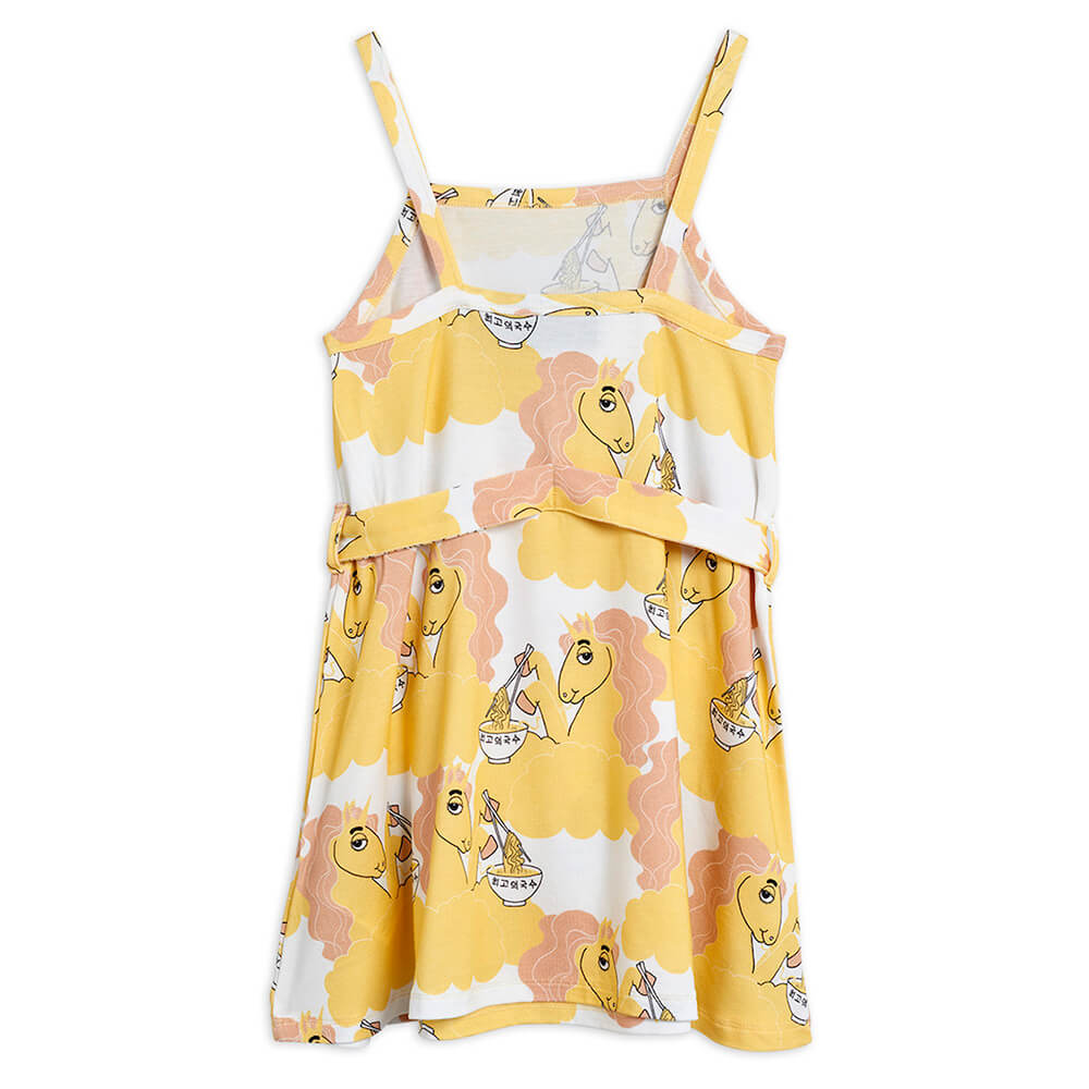 Boutique Mini Rodini Australia Unicorn Noodle Tank Dress Yellow | Tiny People