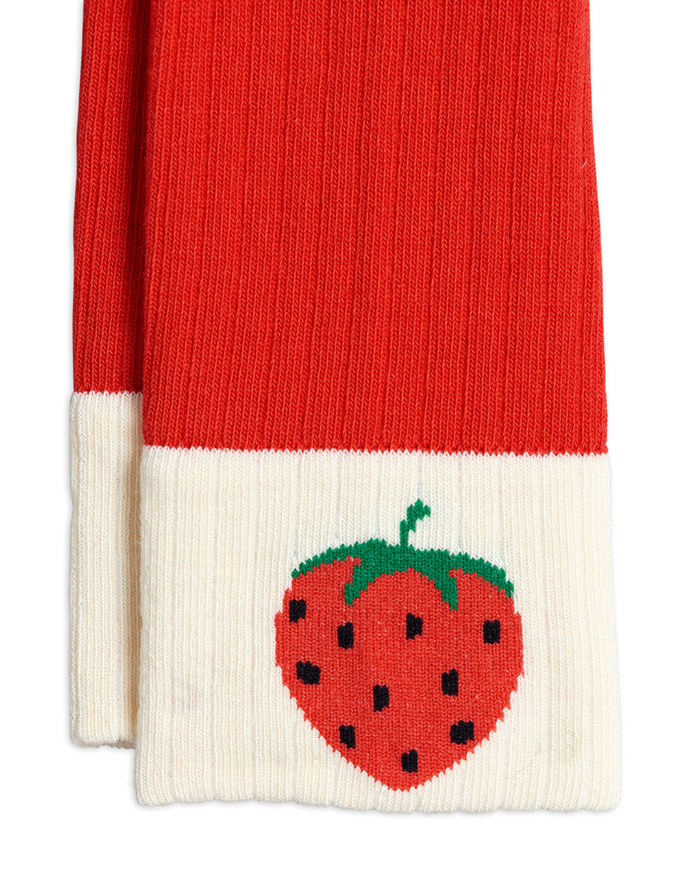 Mini Rodini Ribbed Strawberry Leggings | Tiny People