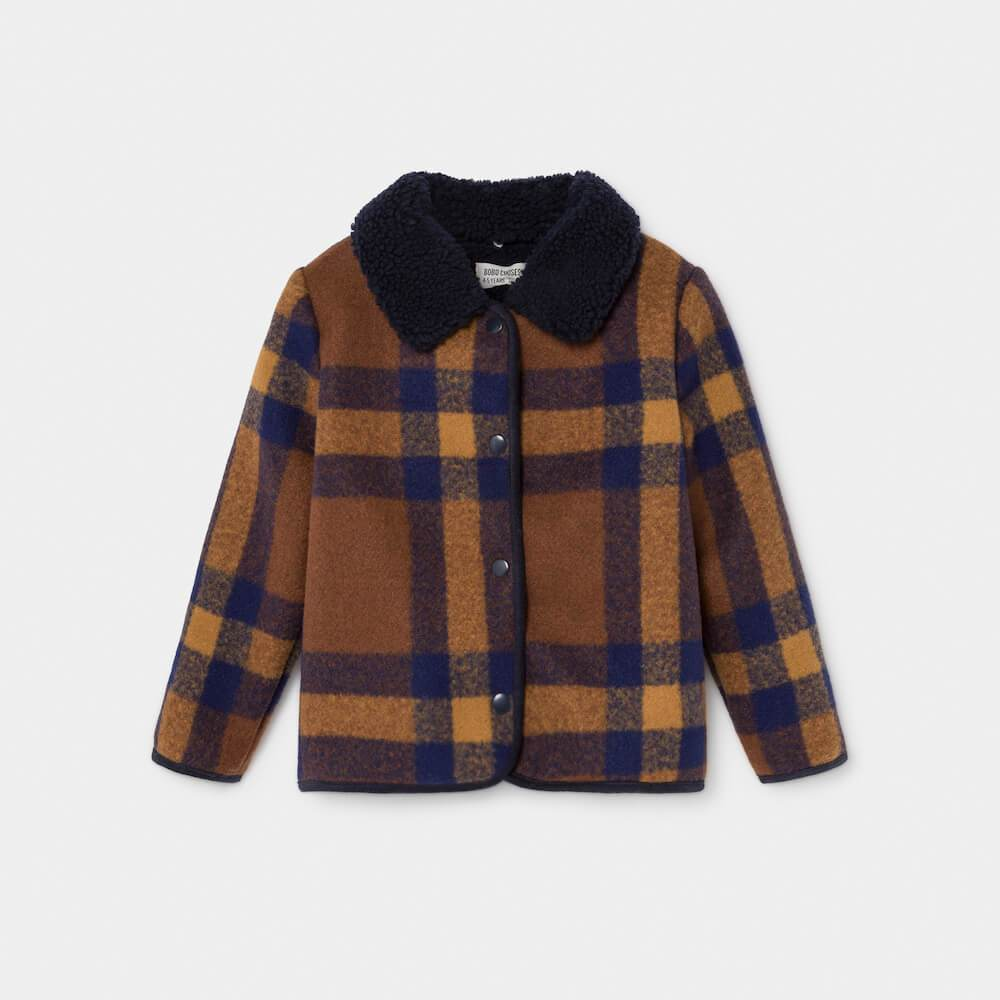 Bobo Choses Checker Jacket Boys Crews & Hoodies - Tiny People Cool Kids Clothes